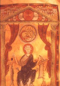 Buchmalerei aus dem 11. Jahrhundert